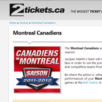 Thumbnail of 2tickets.ca website