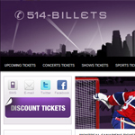 Thumbnail of 514-tickets website
