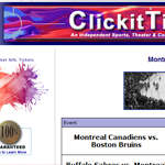 Thumbnail of ClickitTicket website