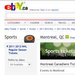 Thumbnail of eBay Canada website