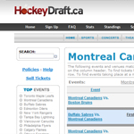 Thumbnail of Hockeydraft.ca website