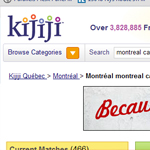 Thumbnail of Kijiji Montreal website