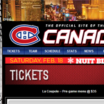 Thumbnail of NHL Canadiens website