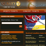 Thumbnail of Quality Plus Tickets website