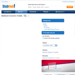 Thumbnail of StubHub! website